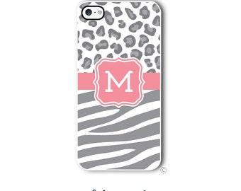 Zebra Cheetah Phone Case Monogram iPhone 6 Case iPhone 6s Case Samsung Galaxy S5 S6 Case iPhone 5 Case iPhone 6 Plus iPhone 5c Style 297
