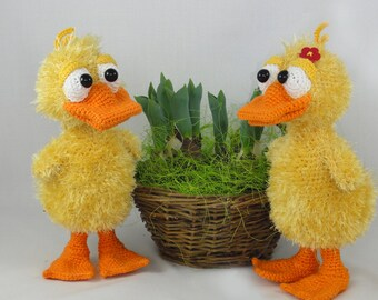 Amigurumi Crochet Pattern - Ducklas and Doris the Ducks - English Version