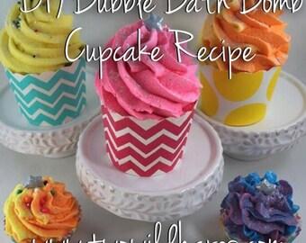 DIY Bubble Bath Bomb Cupcake Recipe & Tutorial Guide (2 recipes in 1)