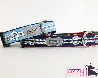 Nautical Knots Dog Collar