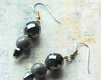 Gunmetal and Iron earrings