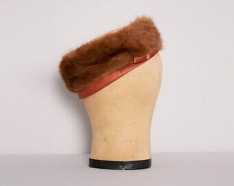 1960s Fur Pillbox Hat Vintage