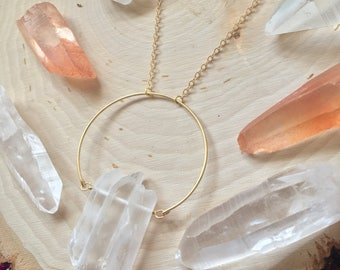 Raw Quartz Boho Necklace, Geometric Crystal Necklace, Raw Crystal Necklace, Gypsy Quartz Necklace, Festival Crystal Necklace, Boho Pendant