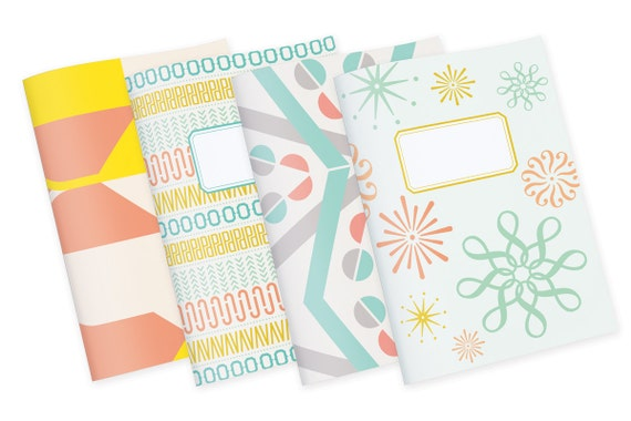 Set of 4 Notebooks // Handmade Blank Notebook // Ideal as diary, notepad, day planner, to do list // Discount set