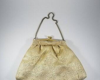 Gold Clutch Evening Bag  |  Gold Clutch Purse | Bridal Clutch Bag | Bridesmaid Clutch | Small Evening Bag  | Embroidered Clutch Purse