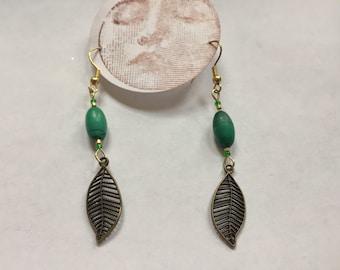 Malachite Leaf Dangles