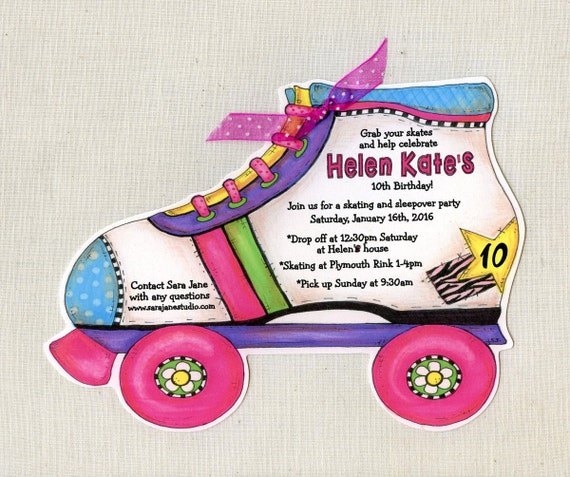 38 girl roller skate birthday party invitations filmwisefo