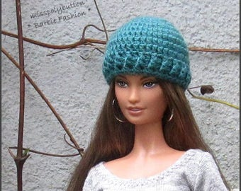 Fashion Doll Hat, Barbie Doll Hat, Barbie Clothing, Barbie Crochet Hat, Beanie Hat For Barbie Doll, 1/6th Scale
