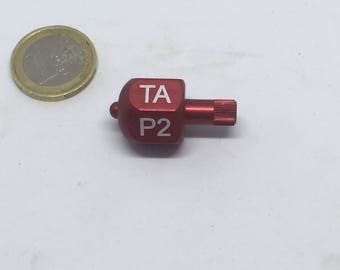 Put and Take spinner or teetotum anodised aluminium