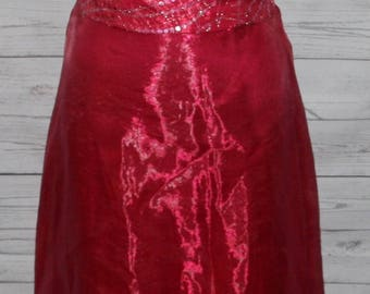 Women's Jessica McClintock for Gunne Sax Pink 2 Piece Dress Size 1 Top & Skirt