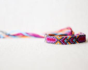 Friendship Bracelet Tribal Geometric Arm Candy Stocking Stuffer Woven Bracelet