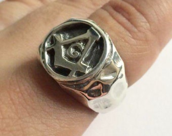 Sterling Silver Masonic Freemason ring