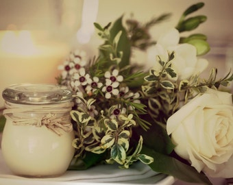 12 Hand poured soy candle wedding favours  -