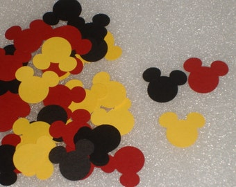 Mickey Mouse Confetti for children's birthdays, baby showers, cards