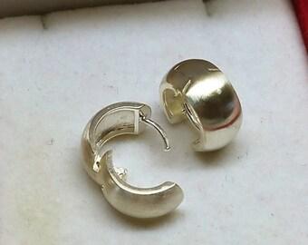 Hoop Earrings Silver 925 Elegant vintage SO131