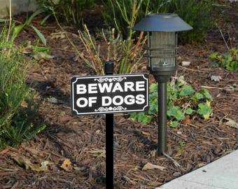 BEWARE OF DOGS Lawn Sign, Beware of Dogs Yard Sign, Beware of Dogs Sign