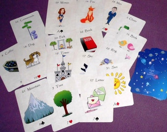Young at Heart (Kids) Lenormand Fortune Telling Oracle 36 Cards by Lynn Boyle