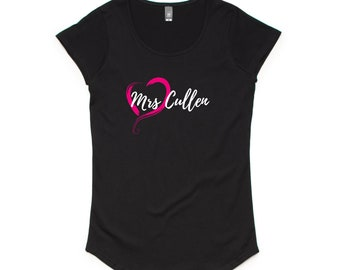 Mrs Cullen Twilight Vampire Ladies T-Shirt