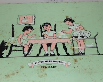 """NEW PRICE Child's """"Little Miss Muffet"""" Tea Cart"""