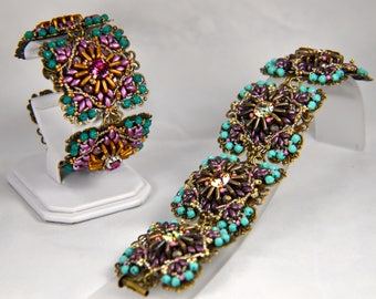 "Beadweaving kit (all beads and printed photo tutorial) ""Anna Karenina"" bracelet"