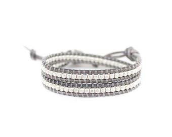 Silver Mist 2 Wrap Bracelet