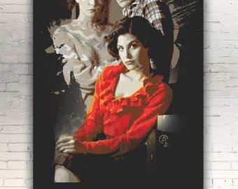"Twin Peaks - CANVAS -16""x12"" artwork print on cotton canvas alternative movie poster David Lynch Audrey Horne Sherilyn Fenn Lara Flynn Boyle"