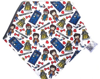 READY to SHIP Doctor Who baby bib, Doctor Who bandana bib, Doctor Who baby gift, baby shower gift, TARDIS bib, Doctor Who gift