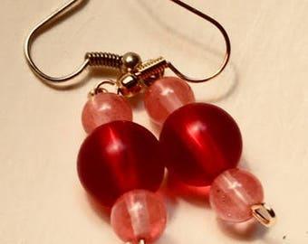 peppermint candy dangle earrings