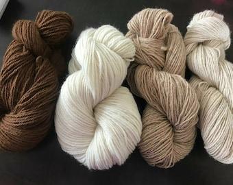 Alpaca yarn, DK weight, natural, eco friendly, straight off the farm