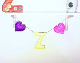 Personalised felt garland