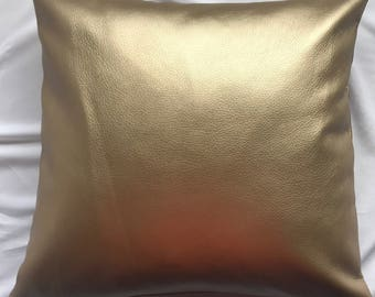 Goldie Faux Leather Pillow Cover