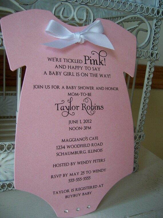 The Original Pink Baby Girl Themed Baby Shower Invitation