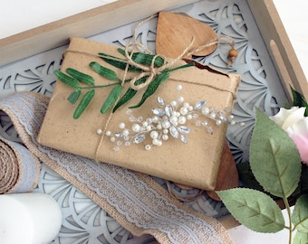 WHITE PEARL | Hair vine, bridal headpiece, wedding accessory, hair accessory