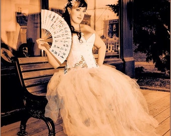 Steampunk wedding gown- made to order