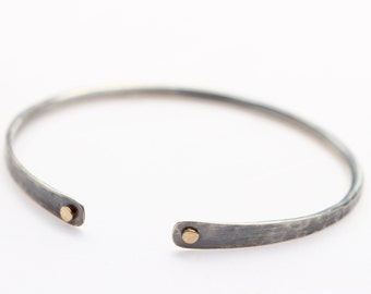 Oxidized Sterling Silver with 14k Gold