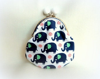 Funny elephant pattern fabric purse.