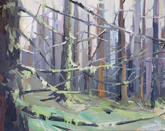 Moss and Branches - limited edition print
