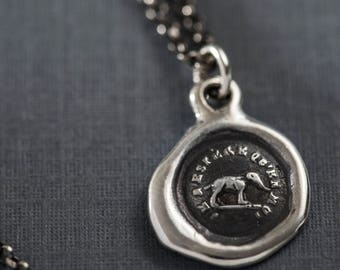 Elephant Wax Seal Necklace - I trust in myself- Trust Your Strength - 216