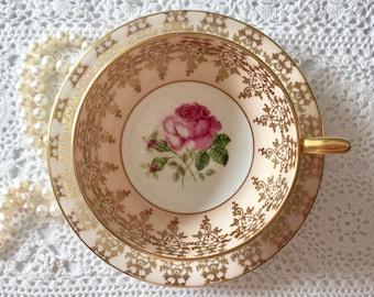 Stunning Pink Windsor Bone China Tea Cup & Saucer
