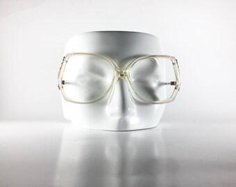 MODERN Vintage Eyeglasses Women Pink Plastic Oversized 1970s MODF351H-6