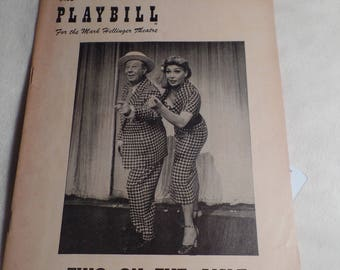 "Playbill for ""Two on the Aisle"" c.1951 with Bert Lahr"
