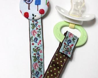 Cute Birdie- Pacifier Toy Clip