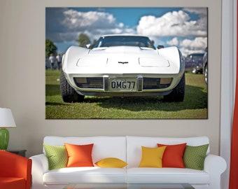 Corvette Racing Car Roadster Canvas Print wall art canvas print Corvette sport car Wall Split Art Multi Panel large Canvas print auto art