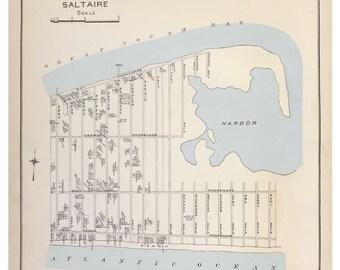 Saltaire - 1915 - Long Island New York - Suffolk Co Atlas V1 Town Map Custom Reprint LI NY