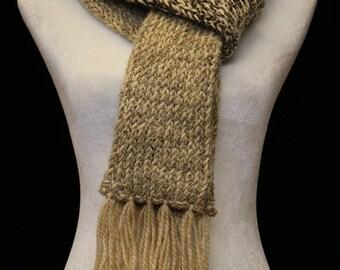 Handmade Knitted Scarf   Camel Beige