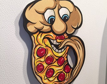 Pepperoni Pizza Cutout Magnet