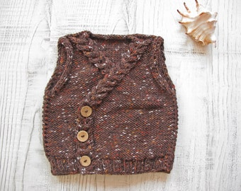Hand Knitted Baby Vest - Child Vest