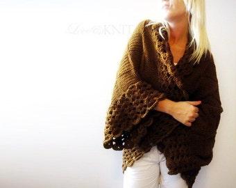 Hand Knit Cardigan . oversized cardigan . chunky knit sweater . plus size cardigan . plus size . oversized clothing . plus size clothing