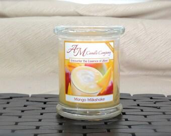 Mango Milkshake -Scented Soy Candles, Mango Scented Candle, Tropical Scented Candle, Fruit Scented Candles, Hand Poured, Coconut Wax