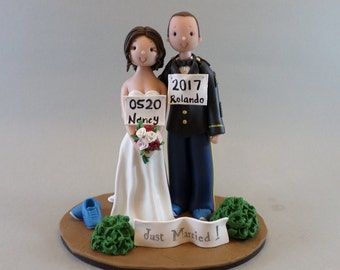 Personalized Jogging Wedding Cake Topper